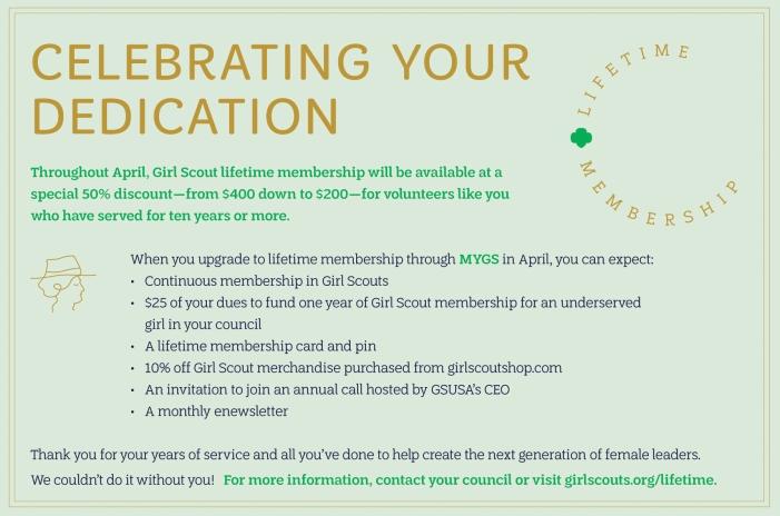 Lifetime Membership Volunteer Graphic