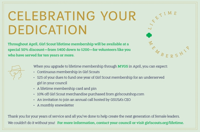 Lifetime Membership Volunteer Graphic